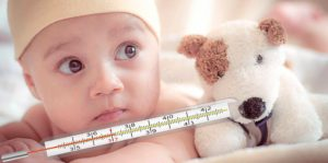 У новорожденного температура 39 что делать