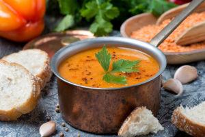 Овощной крем суп постный