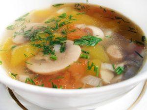 Сварить постный грибной суп