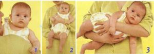 Как можно носить на руках новорожденного?