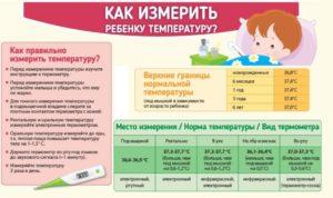 Температура у ребенка ректально норма