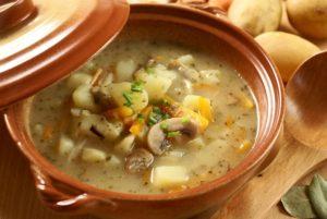 Постный суп с грибами шампиньонами рецепт