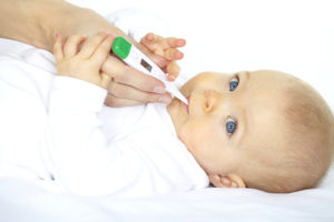 У ребенка 4 месяца температура 37 2