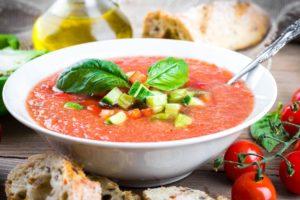 Гаспачо томатный суп пюре