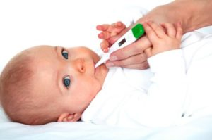 Ребенку 1 месяц как сбить температуру