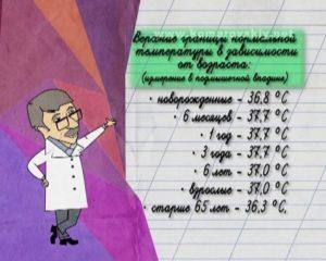 Сколько должна быть температура у ребенка