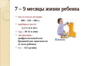 Что ребенок должен делать в 7 мес?
