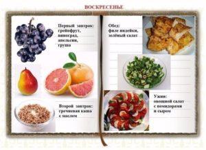 Меню раздельное питание для здоровья