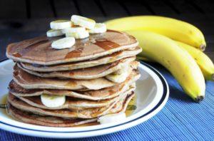 Банановые блины диетические