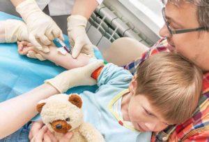 Анализ крови у ребенка из вены