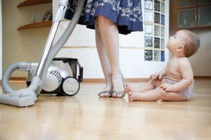 Пылесос и ребенок