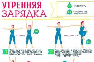 Простая зарядка дома для похудения