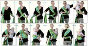 Слинг шарф инструкция для новорожденных