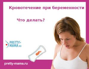 Кровотечение беременности 20 недель