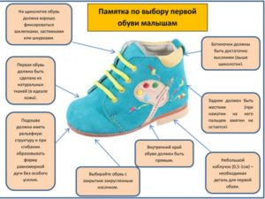 Какая должна быть первая обувь у ребенка?