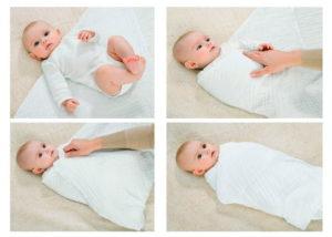 Одевать или пеленать новорожденного