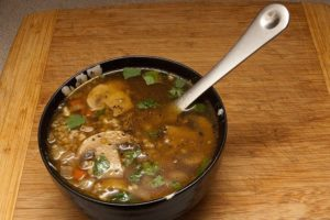 Грибной суп постный с гречкой