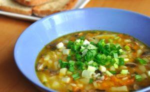 Постный суп в мультиварке скороварке