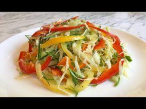 Овощные салаты для похудения живота
