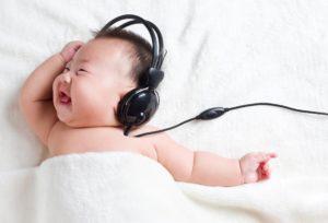 Громкий звук для младенца