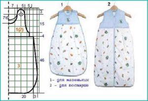 Спальный мешок своими руками для новорожденных