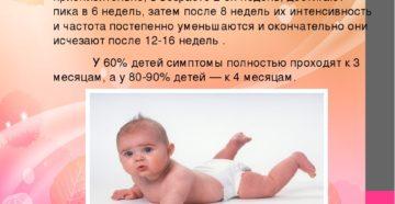 С какого возраста начинаются колики у ребенка
